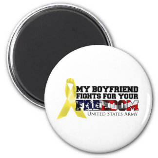 My Boyfriend Fights For Your Freedom Magnet