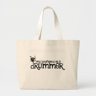 My Boyfriend is a Drummer Tote Bags