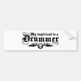 My Boyfriend Is A Drummer Bumper Sticker