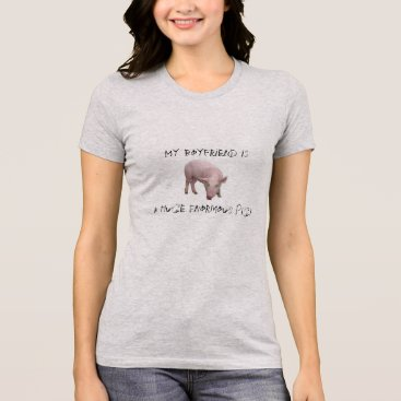"Beach Themed ""MY BOYFRIEND IS A PIG..."" COOL T-SHIRT FUN HARSH"