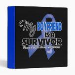 My Boyfriend  is a Survivor - Colon Cancer Vinyl Binder