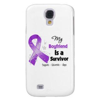 My Boyfriend is a Survivor Purple Ribbon HTC Vivid Case