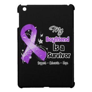 My Boyfriend is a Survivor Purple Ribbon Case For The iPad Mini