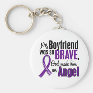 My Boyfriend Is An Angel Pancreatic Cancer Keychain