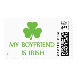 my boyfriend is irish stamp