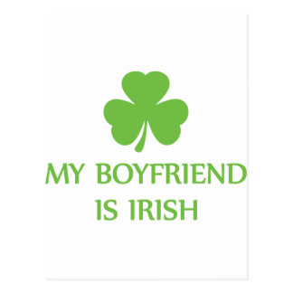 my boyfriend is irish postcard