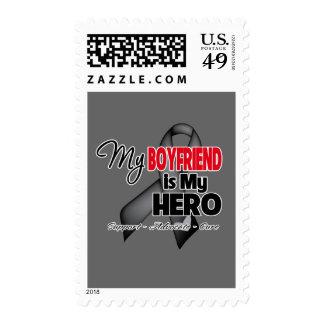 My Boyfriend is My Hero - Skin Cancer Postage Stamp