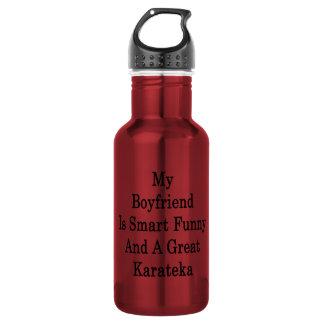 My Boyfriend Is Smart Funny And A Great Karateka 18oz Water Bottle
