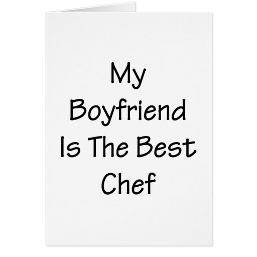 My Boyfriend Is The Best Chef Stationery Note Card