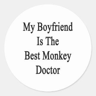 My Boyfriend Is The Best Monkey Doctor Classic Round Sticker