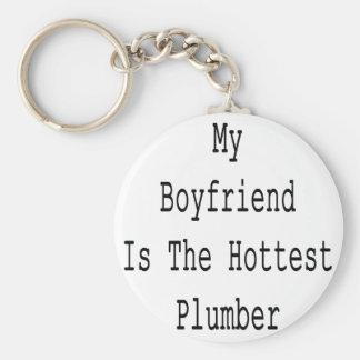 My Boyfriend Is The Hottest Plumber Basic Round Button Keychain