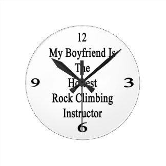 My Boyfriend Is The Hottest Rock Climbing Instruct Round Wallclock