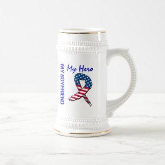 My Boyfriend My Hero Patriotic Grunge Ribbon Beer Stein