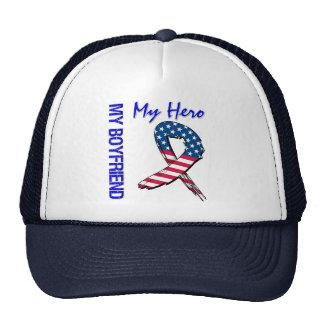 My Boyfriend My Hero Patriotic Grunge Ribbon Trucker Hat