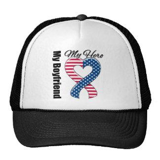 My Boyfriend My Hero Patriotic USA Ribbon Trucker Hat