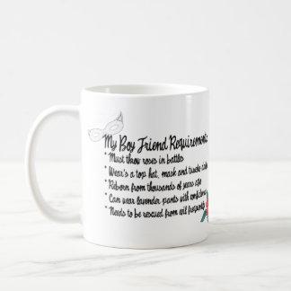 My Boyfriend Requirments Coffee Mug