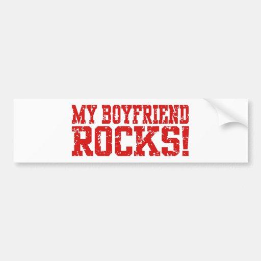 My Boyfriend Rocks Car Bumper Sticker