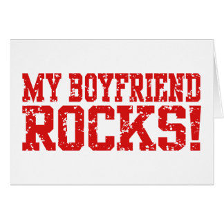 My Boyfriend Rocks Greeting Card