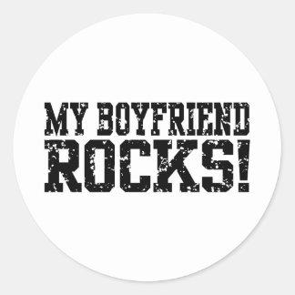 My Boyfriend Rocks Classic Round Sticker