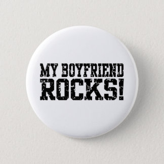 My Boyfriend Rocks Pinback Button