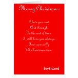 My boyfriend romantic Christmas greeting cards