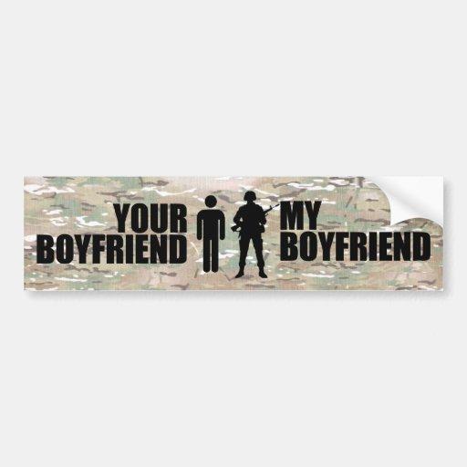 My Boyfriend serves in the military Bumper Sticker