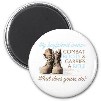 My Boyfriend Wears Combat Boots 2 Inch Round Magnet