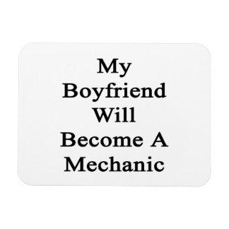 My Boyfriend Will Become A Mechanic Rectangular Magnet
