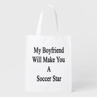 My Boyfriend Will Make You A Soccer Star Reusable Grocery Bag