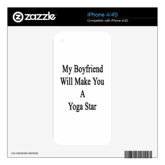 My Boyfriend Will Make You A Yoga Star Decals For iPhone 4S