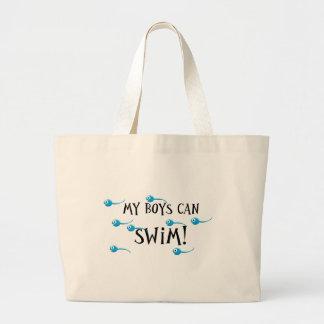 my boys can swim canvas bags