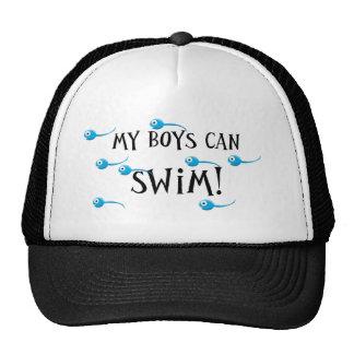 my boys can swim mesh hat