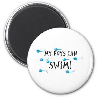my boys can swim refrigerator magnet