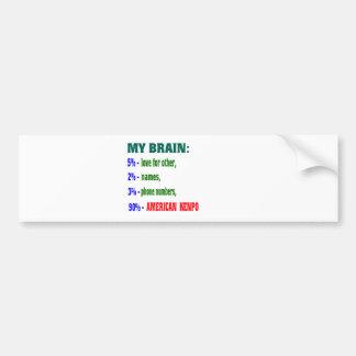 My Brain 90 % American Kenpo. Car Bumper Sticker