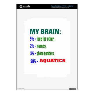 My Brain 90 % Aquatics. Decals For iPad 3