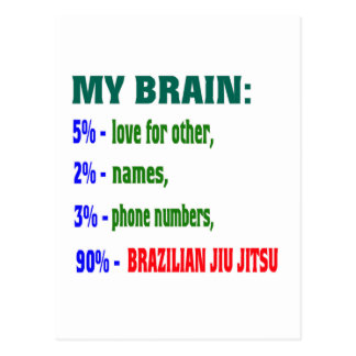My Brain 90 % Brazilian Jiu Jitsu. Postcards