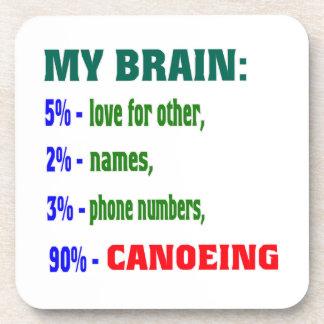 My Brain 90 % Canoeing. Coasters