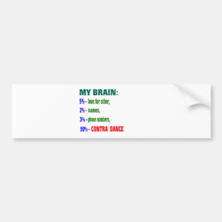 My brain 90% Contra dance Car Bumper Sticker
