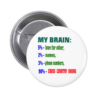 My Brain 90 % Cross Country Skiing. Buttons