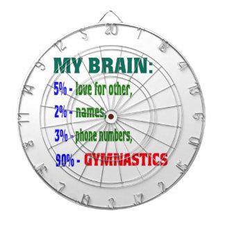 My Brain 90 % Gymnastics. Dartboards