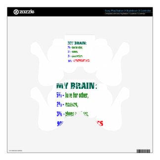 My Brain 90 % Gymnastics. PS3 Controller Decal