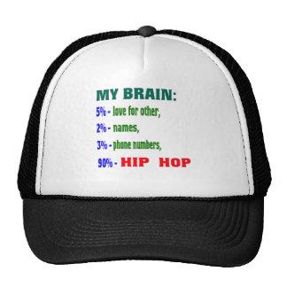 My Brain 90 % Hip Hop. Trucker Hat