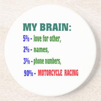My Brain 90 % Motorcycle Racing. Drink Coasters