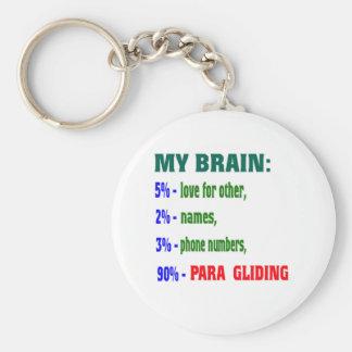 My Brain 90 % Para Gliding. Keychains