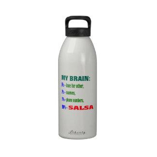 My Brain 90 % Salsa. Water Bottles