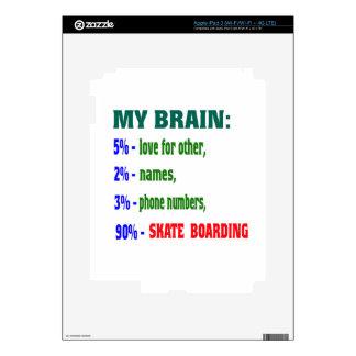 My Brain 90 % Skate Boarding. iPad 3 Decal