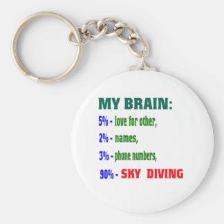 My Brain 90 % Sky Diving. Key Chain