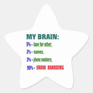 My Brain 90 % Snow Boarding. Sticker