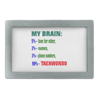 My Brain 90 % Taekwondo. Rectangular Belt Buckles