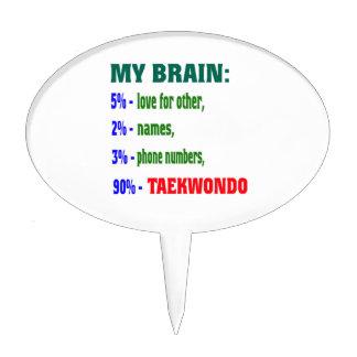 My Brain 90 % Taekwondo. Cake Pick